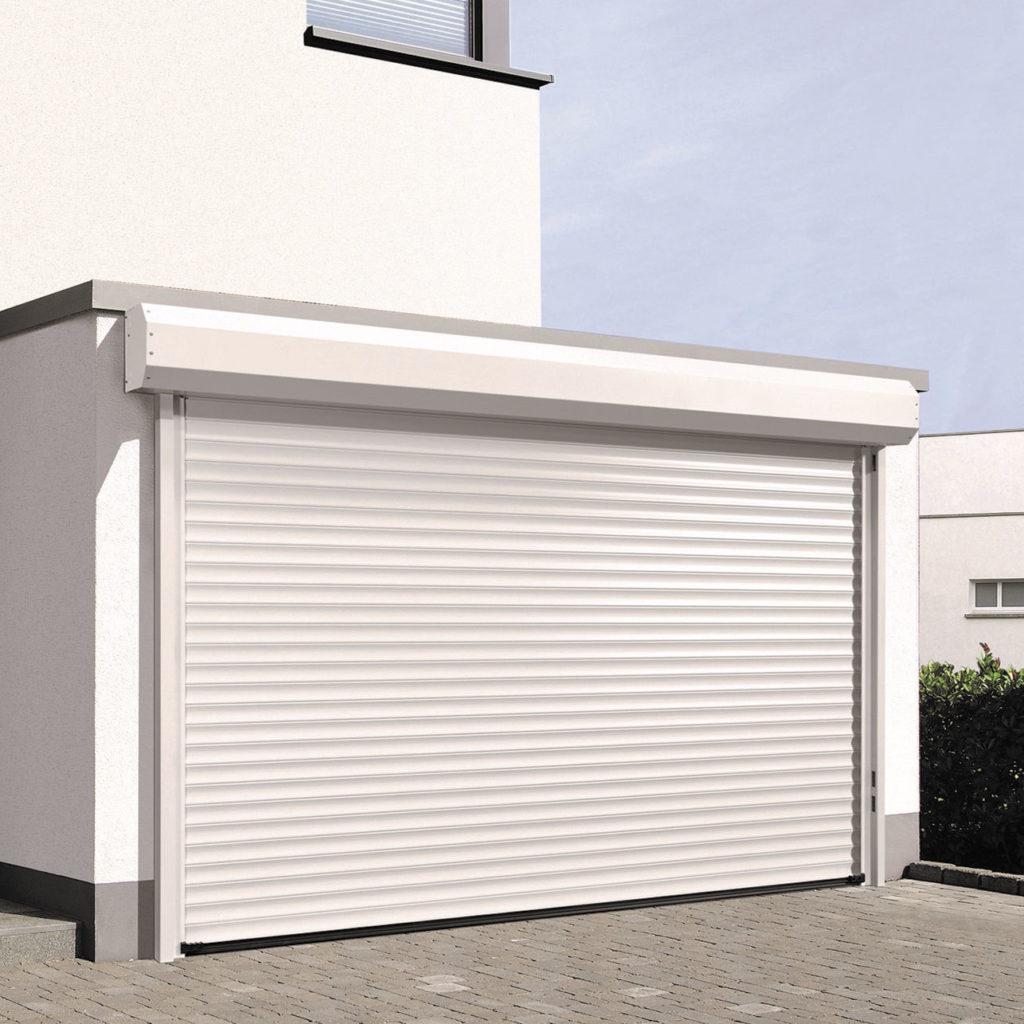aluminum garage door white