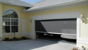 a beautiful looking garage door, large size