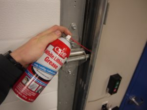 lubricating garage door