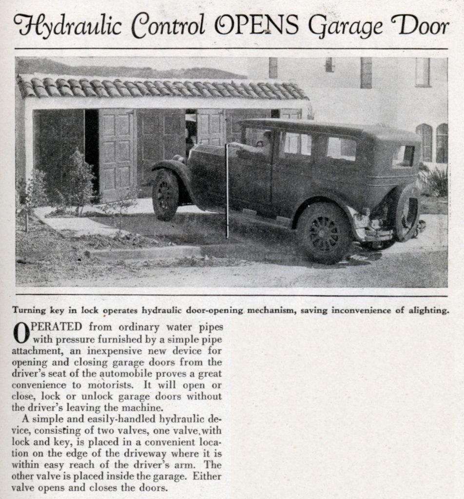 Garage door opener history