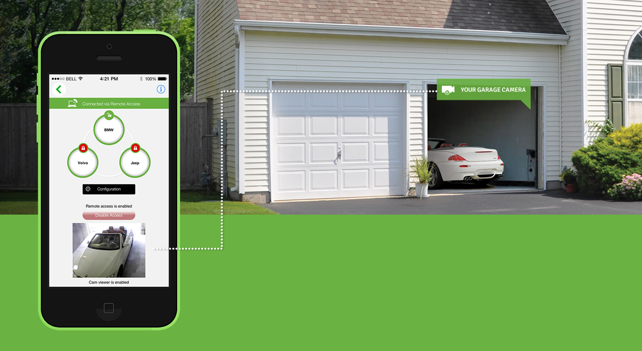 How to use Smartphone as a Garage Door Opener?