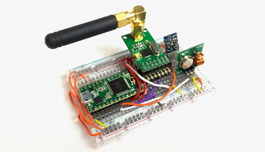 device for hacking garage doors