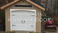 DIY Guide to add Lock to your Garage Door
