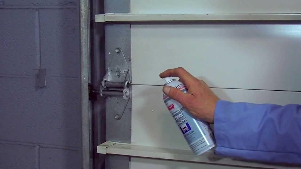 how to lubricate garage doors