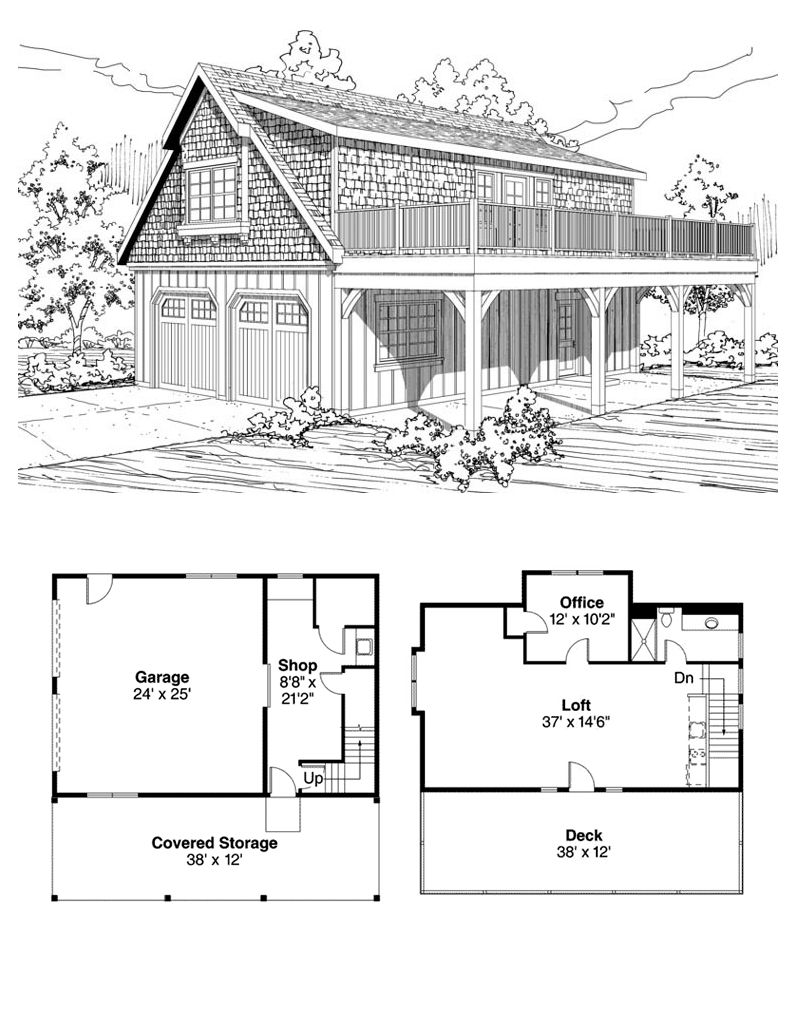 2 Car Garage Space and Plan