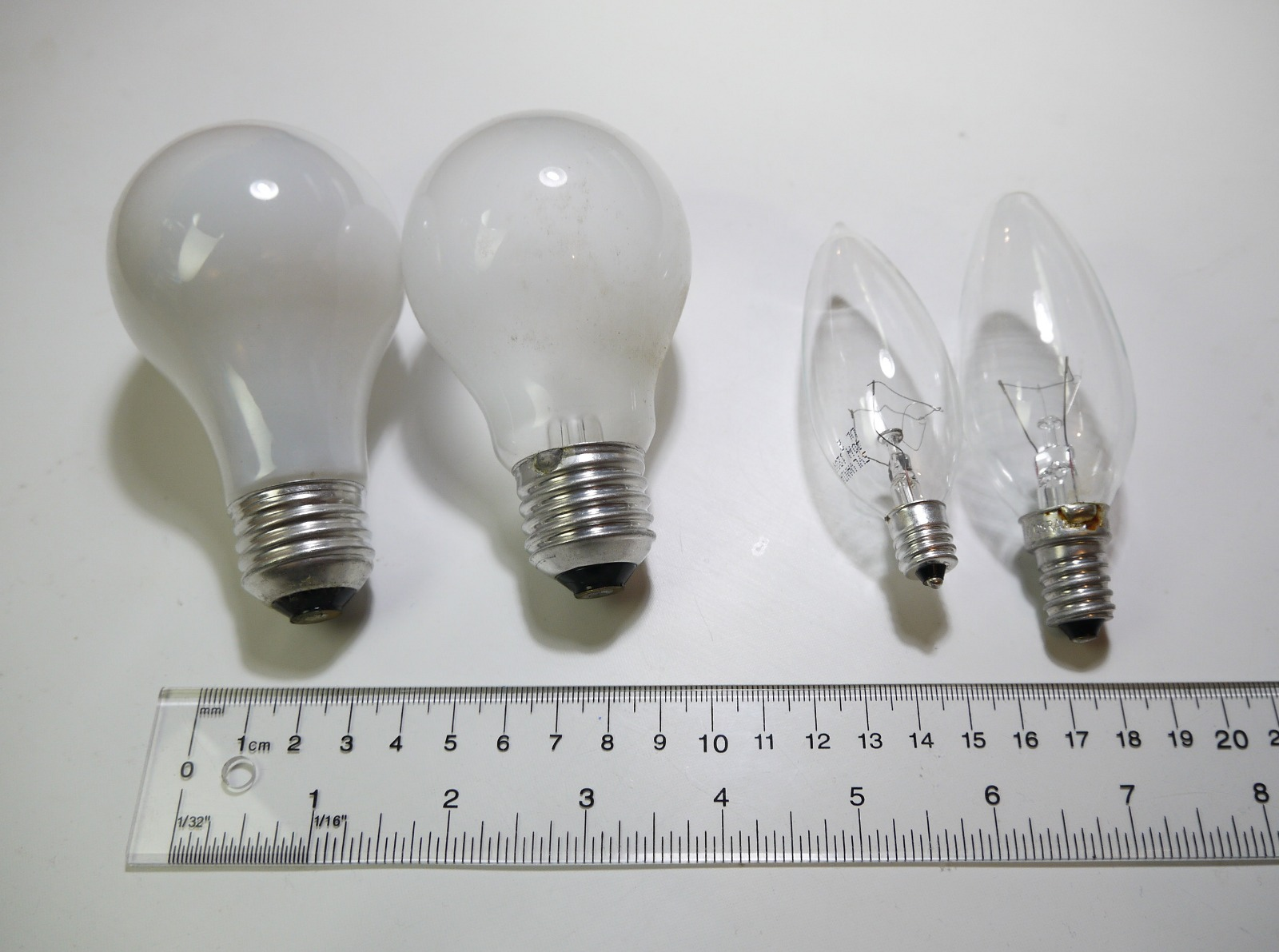 Light Bulb Socket Sizes Chart